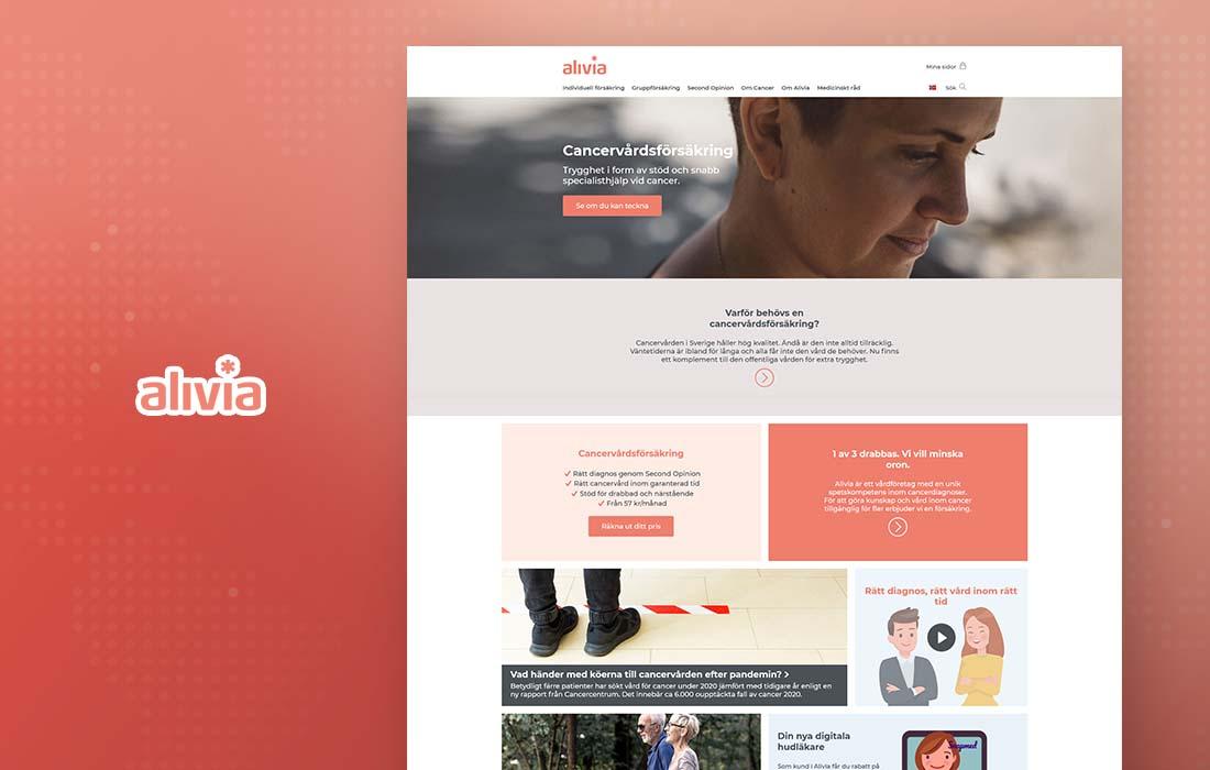 Alivia Cancervårdsförsäkring - cmsMinds Portfolio