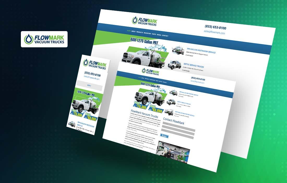 FlowMark Vacuum Trucks - cmsMinds Portfolio